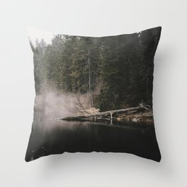 In the Fog - Landscape Photography Throw Pillow