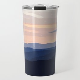 Pastel Sunset Over the Mountains Travel Mug