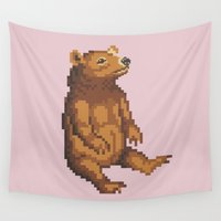 teddy bear Wall Tapestries featuring Teddy Bear by colatudo