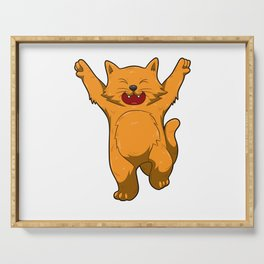 Jubilation Cat Dance Emote Funny Gift Serving Tray