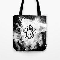 bleach Tote Bags featuring Bleach BW 5 by Bradley Bailey