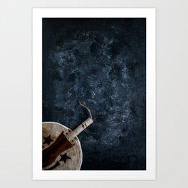 Igbo Nigerian Hand Fan [Blues Scale] Art Print