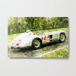 Sterling Moss 1955 Mille Miglia 300 SLR Metal Print