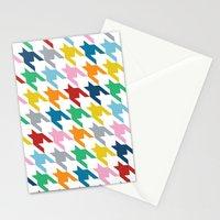 Rainbow Dogtooth Stationery Cards
