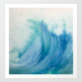 Watercolor Wave Art Print