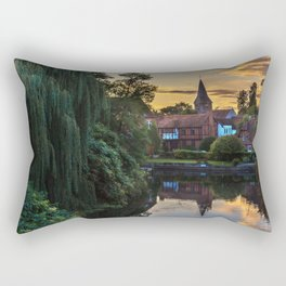 Early Evening Whitchurch on Thames Rectangular Pillow