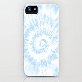 Lighter Ocean Blue Tie Dye iPhone Case