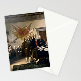 Signing The Declaration Of Independence Stationery Cards