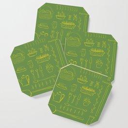 Gardening and Farming! - illustration pattern Coaster