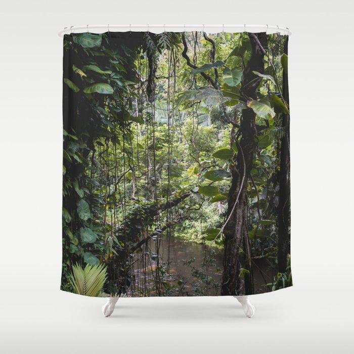 Hidden Jungle River Shower Curtain
