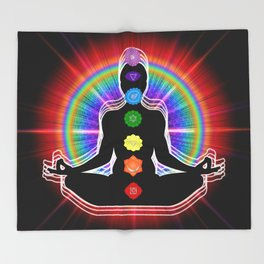 Chakra Meditation Throw Blanket