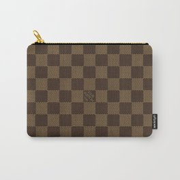 Louis Vuitton/LV Square Knitted Logo Pattern Brown/Beige Carry-All Pouch