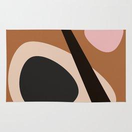 abstract brown Rug