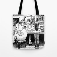 cheese Tote Bags featuring Cheese. by Samuel Guerrero