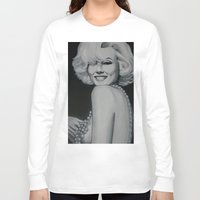 drunk Long Sleeve T-shirts featuring Marilyn Drunk by Valeria Natale