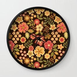 Mini Flowers Wall Clock