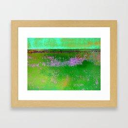 Orange and Green Framed Art Print