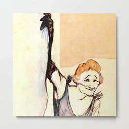 "Henri de Toulouse-Lautrec ""Yvette Gilbert before the curtain"" Metal Print"