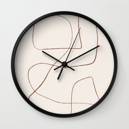 Bento - Abstract Line Drawing Wall Clock