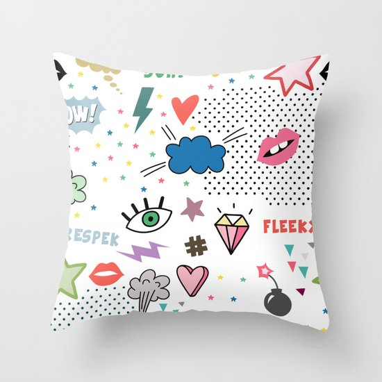 Comic Love Throw Pillow