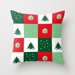 Christmas Patch Throw Pillow