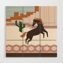 Wild Desert Horse Wood Wall Art