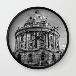 Radcliffe Camera Oxford University Black and White Wall Clock