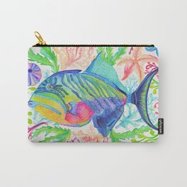 Parrot Fish & Ocean Creatures Carry-All Pouch