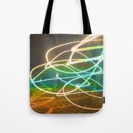 Rainbow Light Graffiti Tote Bag