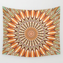 Heart of the Sunflower - Mandala Art Wall Tapestry