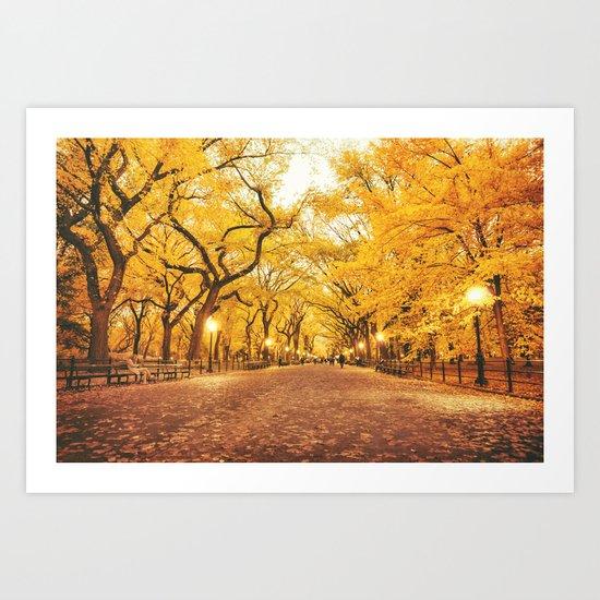 New York City Autumn Art Print