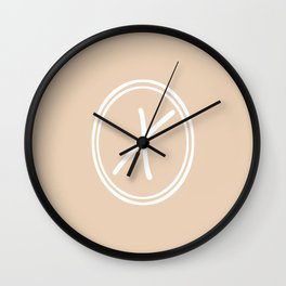 Monogram - Letter X on Pastel Brown Background Wall Clock