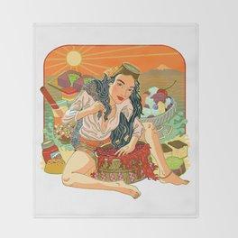 Agar Lady Throw Blanket