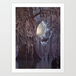 Momentary Swamp Opening Art Print