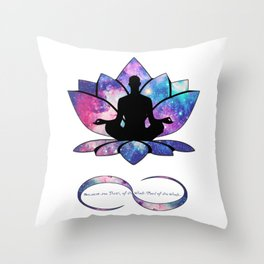 Free your Soul to Infinity Throw Pillow