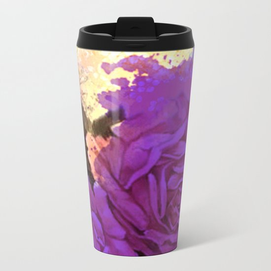 purple roses and light Metal Travel Mug