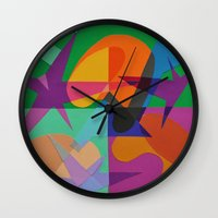 transparent Wall Clocks featuring Transparent by Mallory Pearson