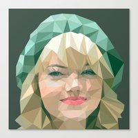 emma stone Canvas Prints featuring Emma Stone by You Xiang