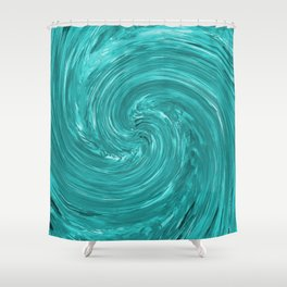 Watch the Swirling Water Go Down the Drain Shower Curtain