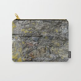 Stone Surface Structure with Lichen and Moss Carry-All Pouch