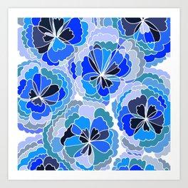 Floral Blue Art Print