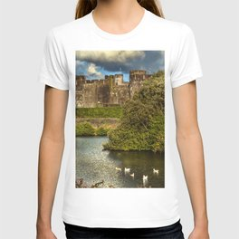 Caerphilly Castle Western Towers T-shirt