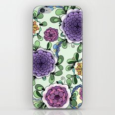 Purple Bloom iPhone & iPod Skin