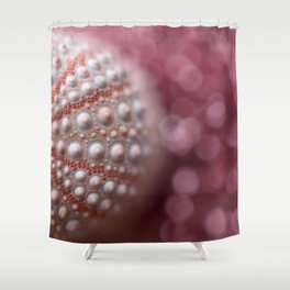 Pink Sea Urchin In The Pink Sea... Shower Curtain