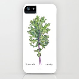 Red Russian Kale iPhone Case