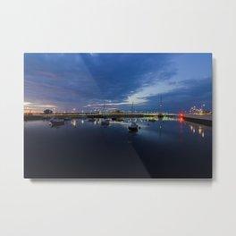 Pont y Ddraig Bridge and Harbour Metal Print