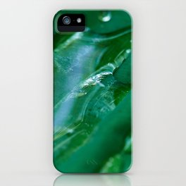 leaf water droplet iPhone Case