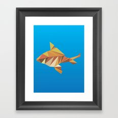 Geometric Goldfish Framed Art Print
