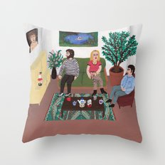 The Callgirl Throw Pillow
