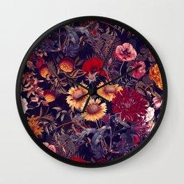 Midnight Garden IV Wall Clock